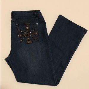 Women's Multiples jeans sz 10 embellished pockets
